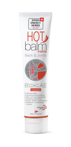 HOT BALM 8 Swiss Herbs + Vitamins A, E