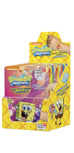 SPONGE BOB 10 Vitamins and Zinc Dextrose tablets