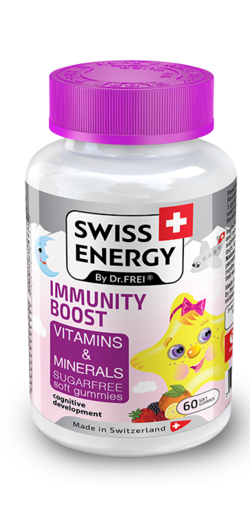 IMMUNITY BOOST Vitamins and Minerals Sugar-free soft gummies