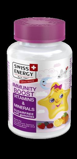 IMMUNITY BOOST Vitamins and Minerals Sugar-free soft gummies