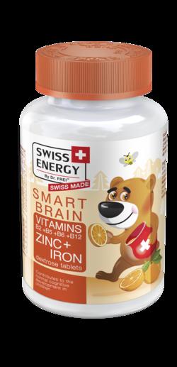 SMART BRAIN Vitamins B2 + B5 + B6 + B12 + Zinc+ Iron Dextrose tablets
