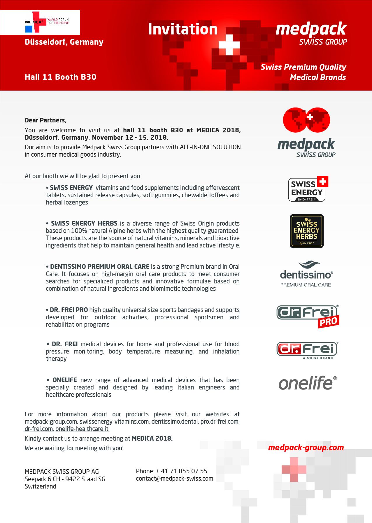Invitation to MEDICA 2018