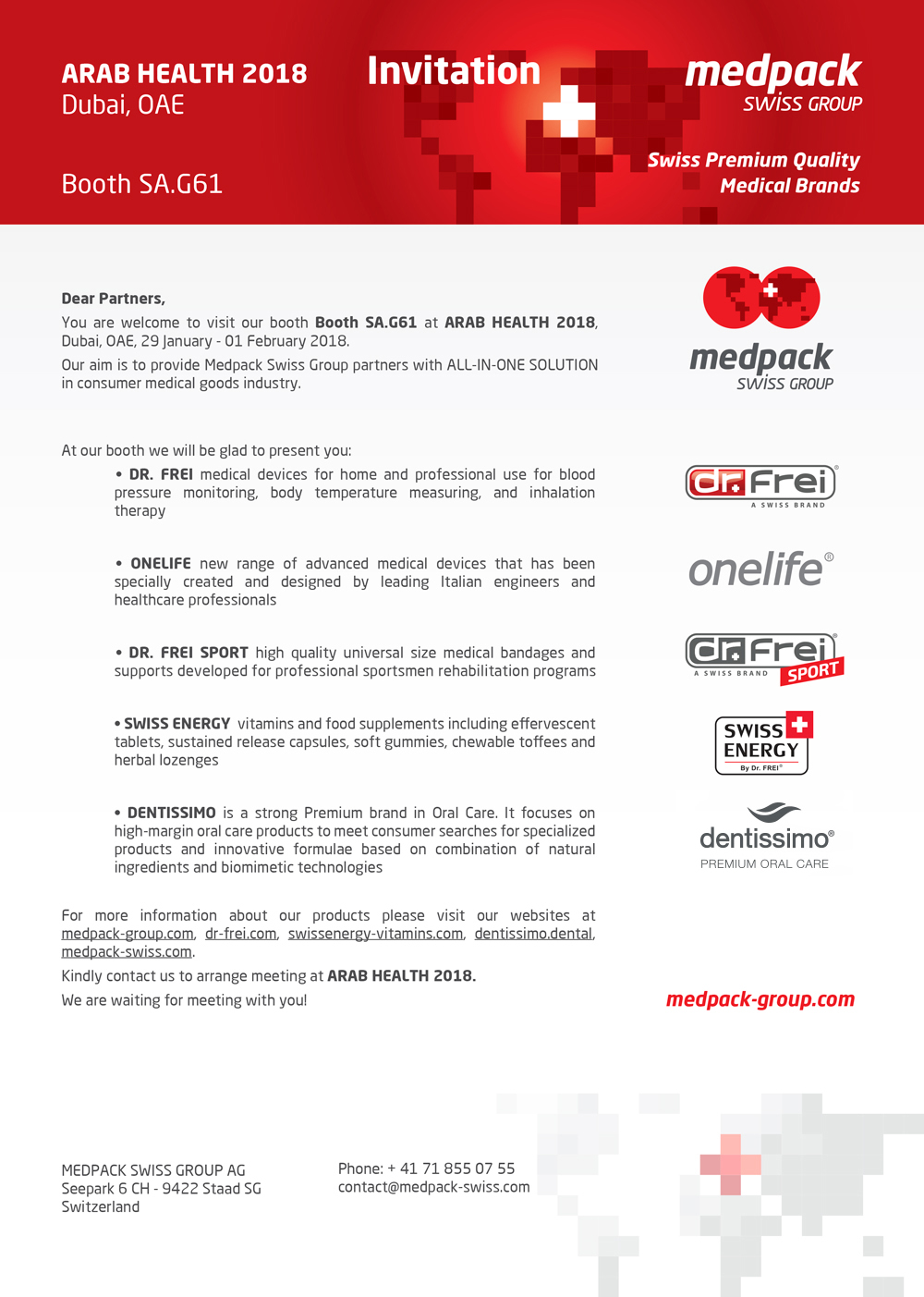 invitation to arab health 2018